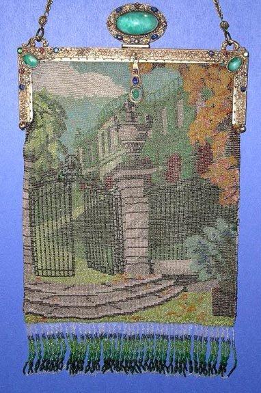 Mansion Through Garden Gate