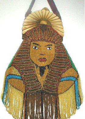 Beaded Egyptian Sphinx