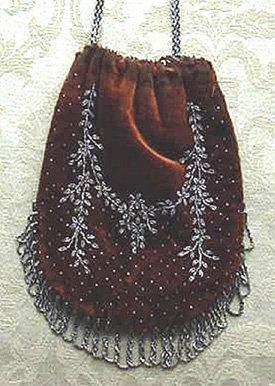 Velvet beaded purse