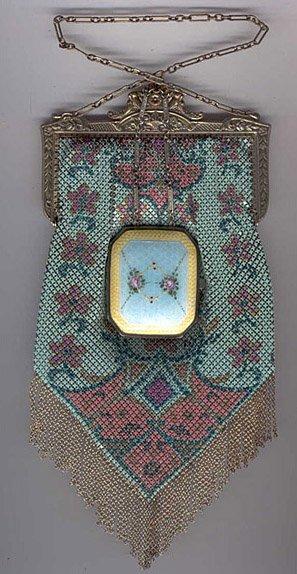 Mandalian mesh purse & compact collage 3