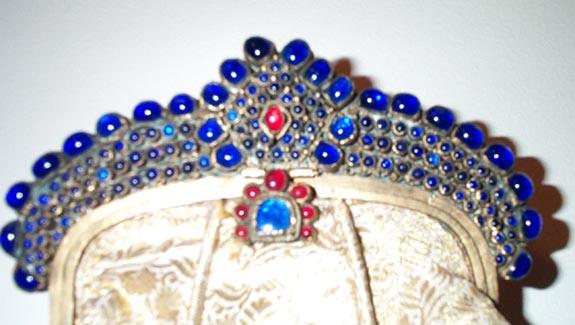 Massive Jeweled Frame & Bag