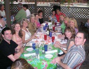 First Annual Gathering participants (from the left, clockwise): Tom Feldman (webmaster), Terri Lykins, Kim Stonecipher, Linda Marshall, Liz Honeycutt, Deb Bajema, Diane Goldfarb, Rick Moreno, Melissa Overdorf, Lori Blaser, Sharon LuVisi, Karen Boyden and Chris Overdorf. Not pictured: Deb Dzewaltski and Lisa Moreno (who took this photo).