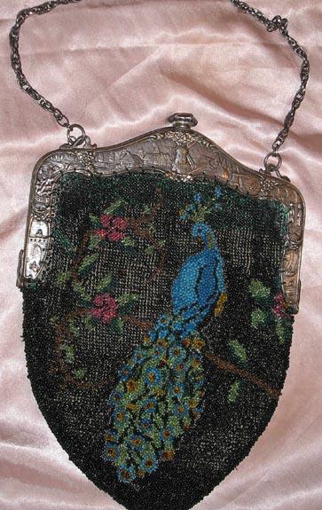 Figural Beaded Peacock