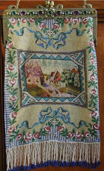 Glass Beaded with petit point insert