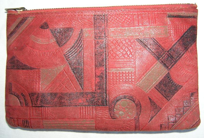 Art Deco Leather Clutch