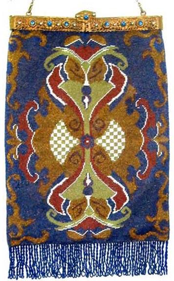 Carpet Beaded with Jeweled Box Frame