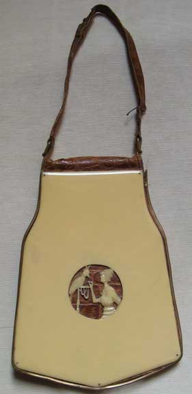 Celluloid & Leather Vanity Purse