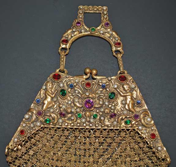 Jeweled Mesh Purse