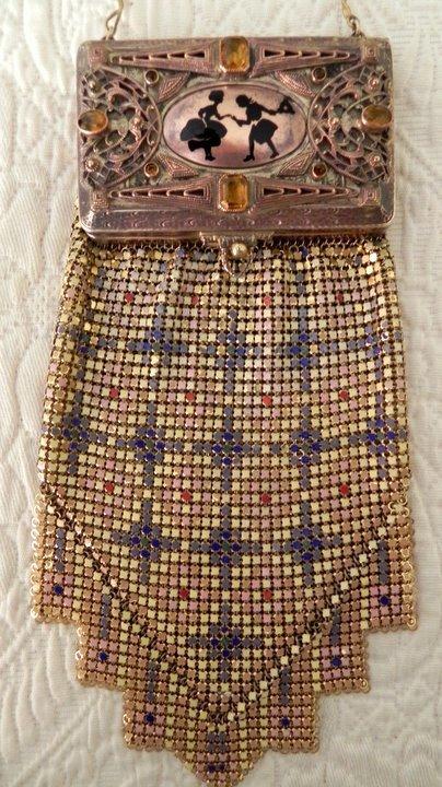 Jeweled Mesh Vanity Purse