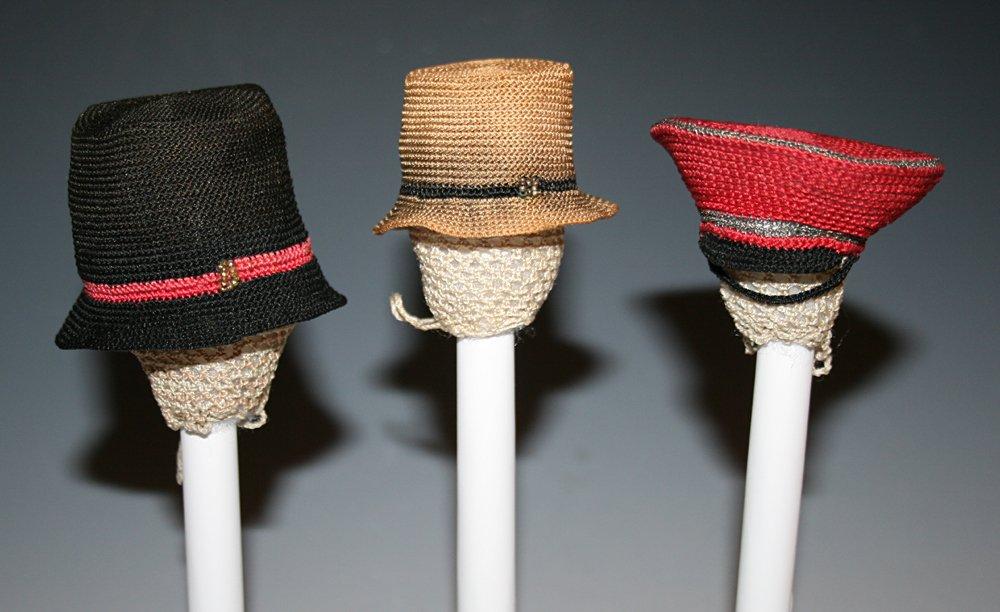 Crocheted hat purses