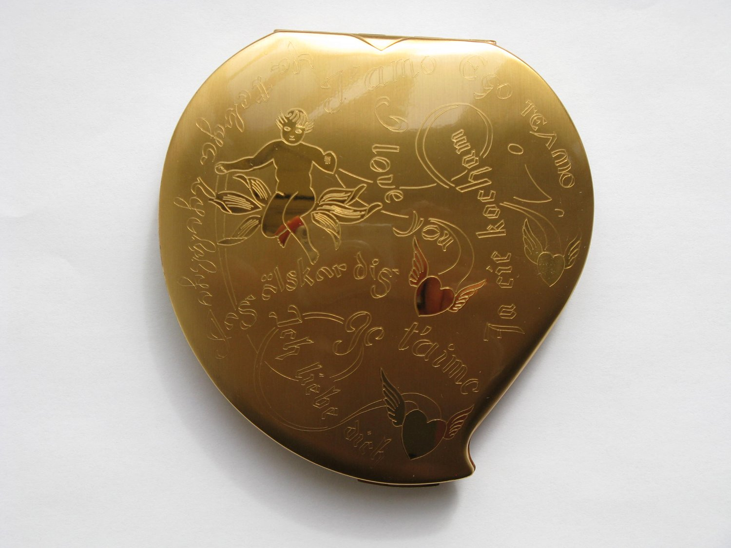 Heart Compact with Cupid