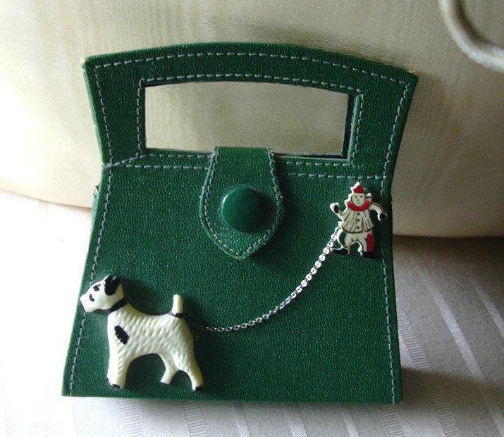 Green child's purse