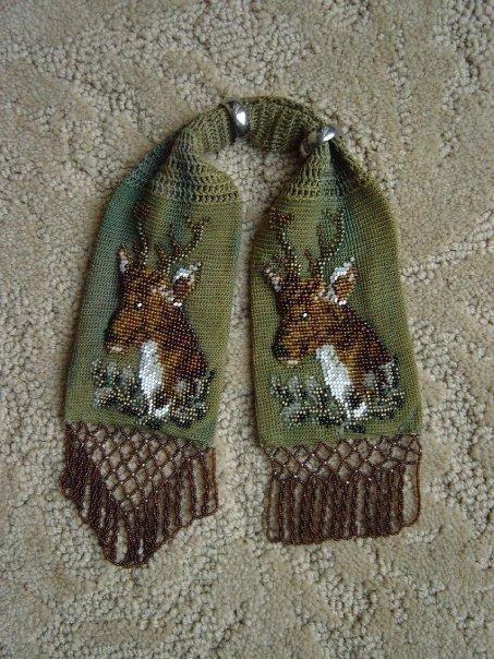 Green deer miser purse