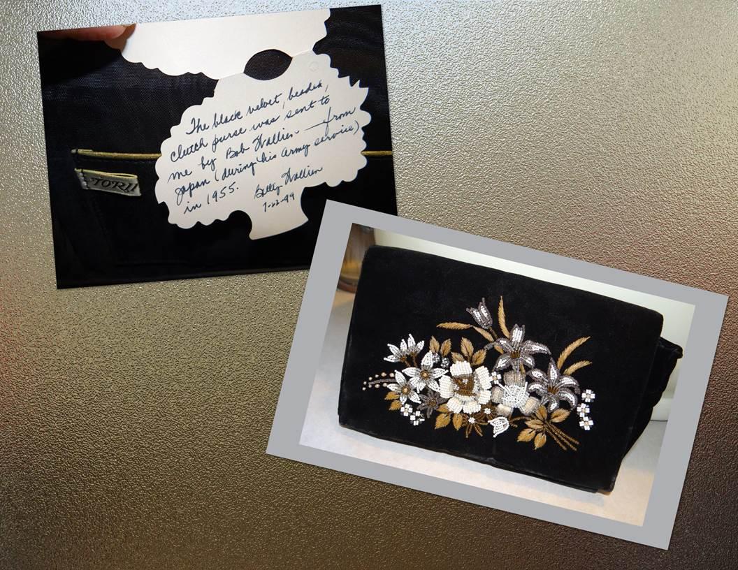For Mom: Japanese velvet purse