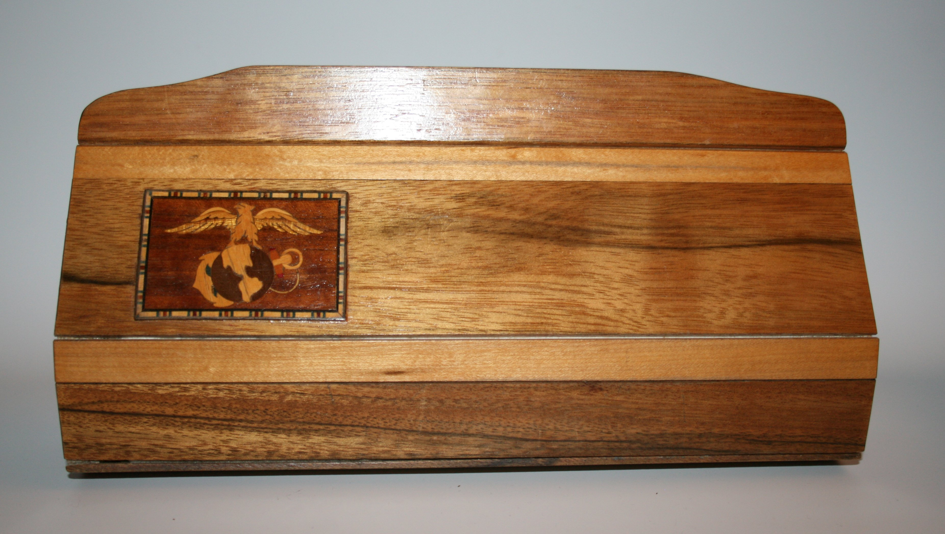Wooden Purse with Marine Corps Emblem
