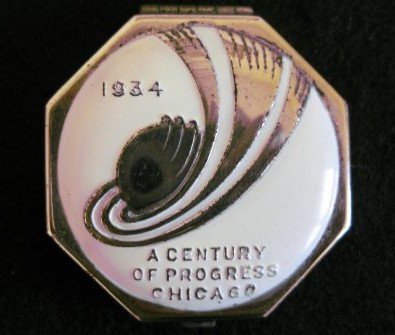 1934 Chicago Worlds Fair compacts