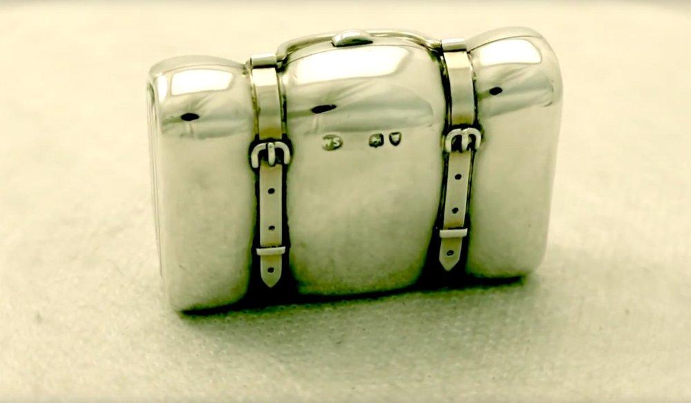 Edwardian Sterling Silver Purse Looks Like Suitcase