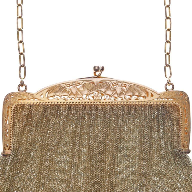 Gold bat purse