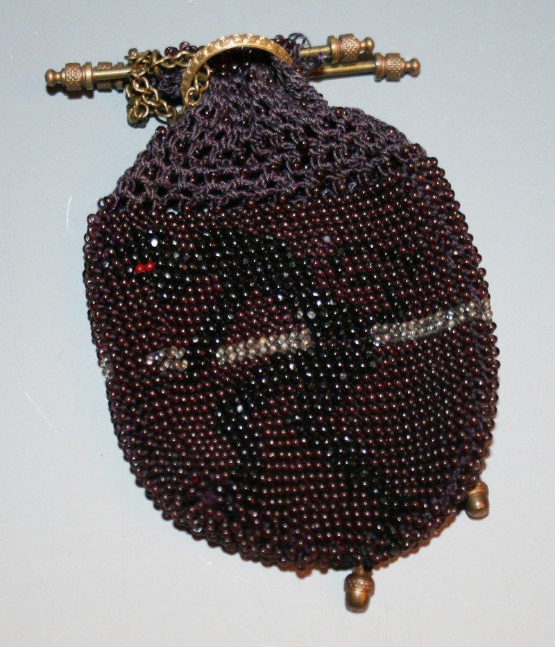 Devil beaded purse