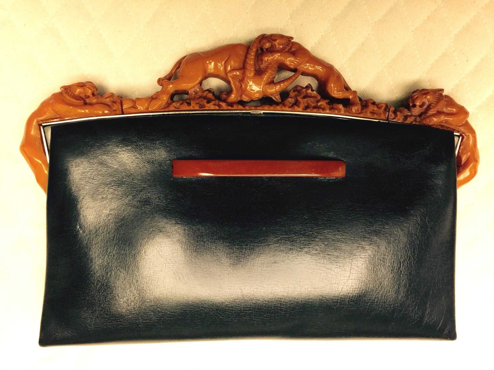 Bakelite jaguars clutch