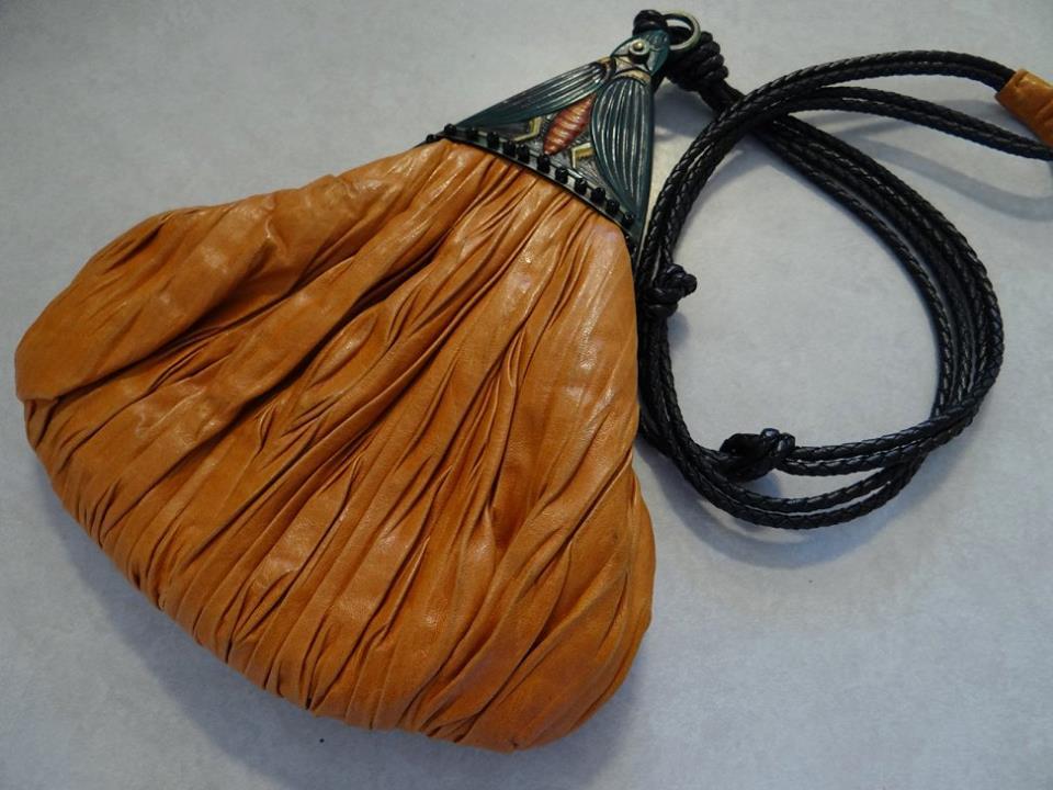 Celluloid moth purse