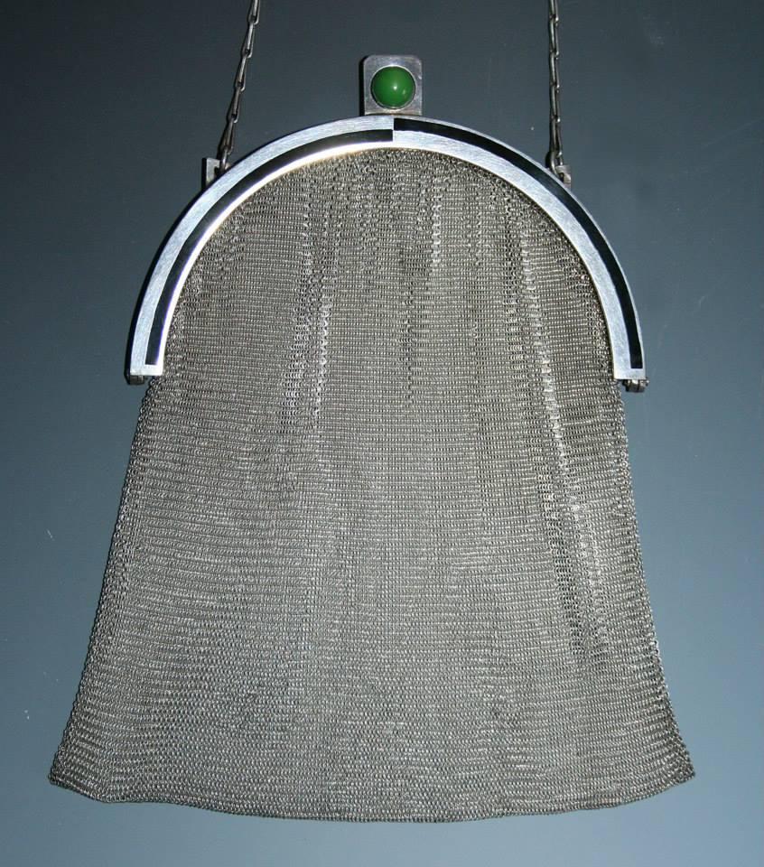 Art Deco silver purse