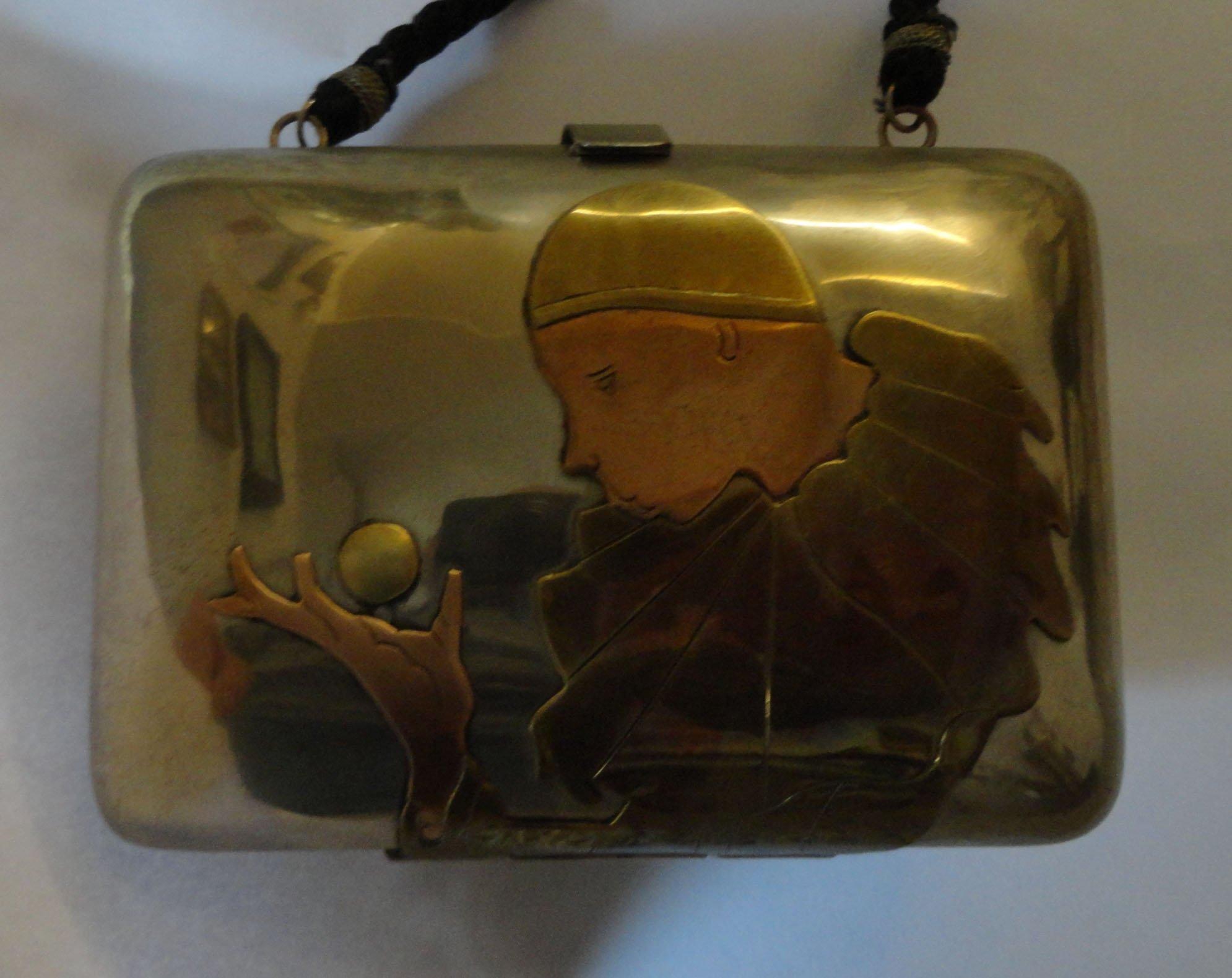 Pierrot metal purse