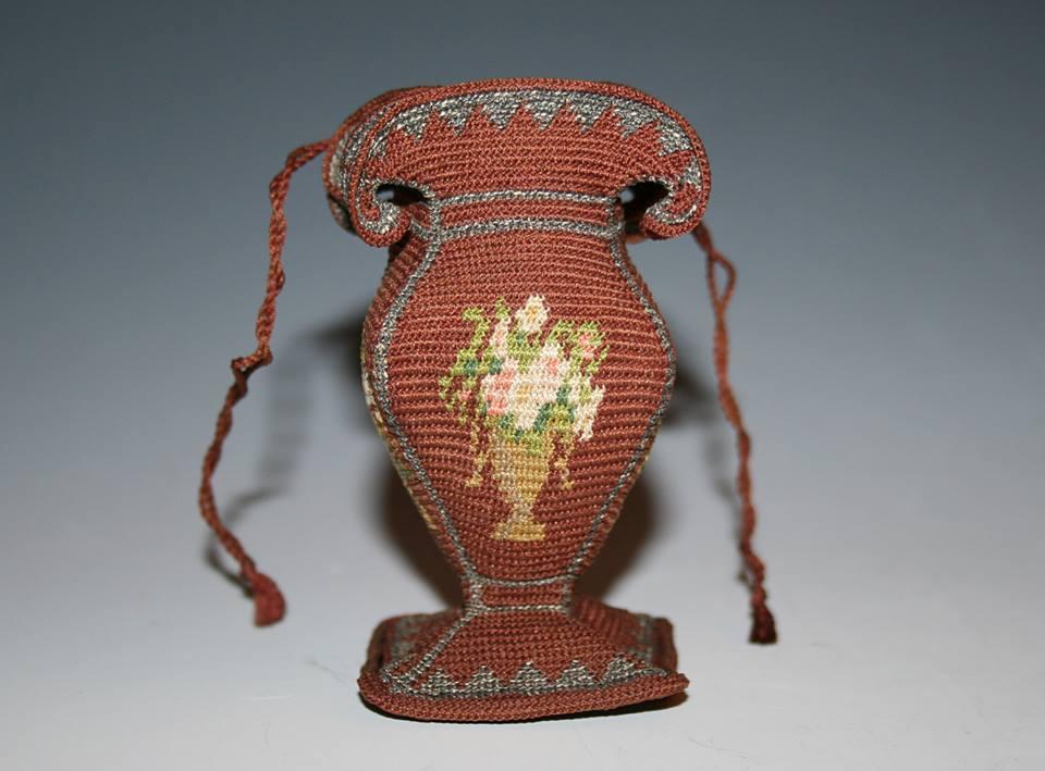 Crocheted urn purse