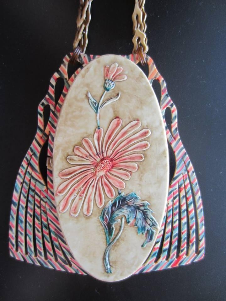 Unusual celluloid dance purse