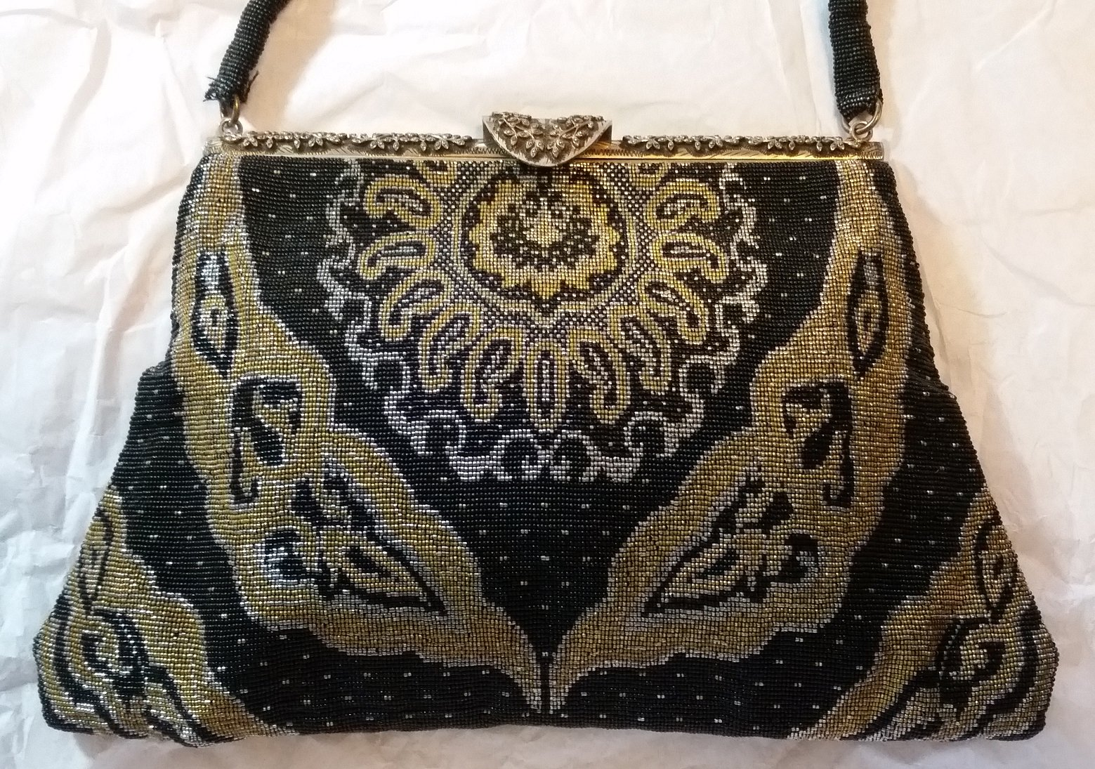 French Steel Beaded Purse