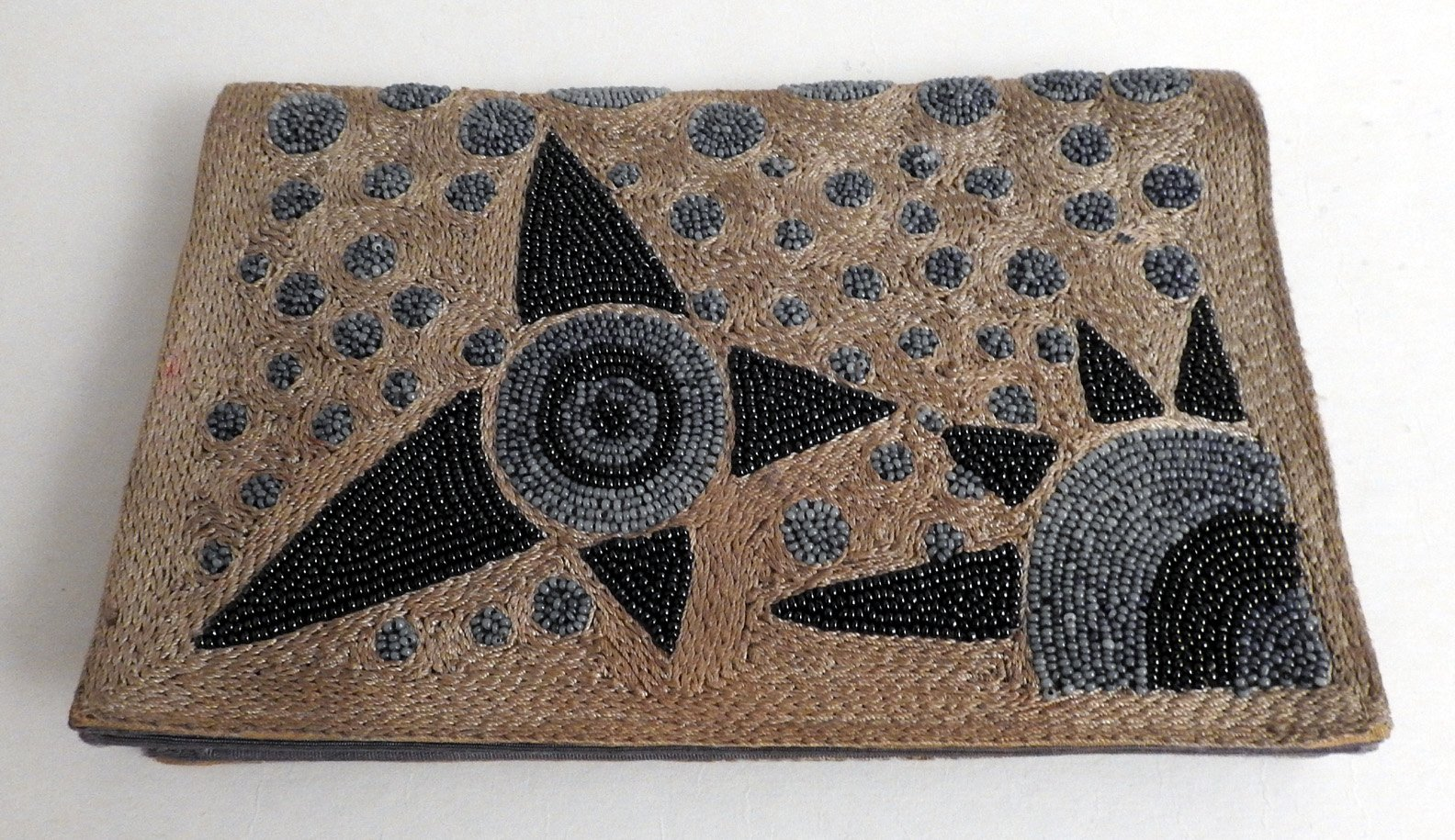 1920s Silk And Beaded Clutch