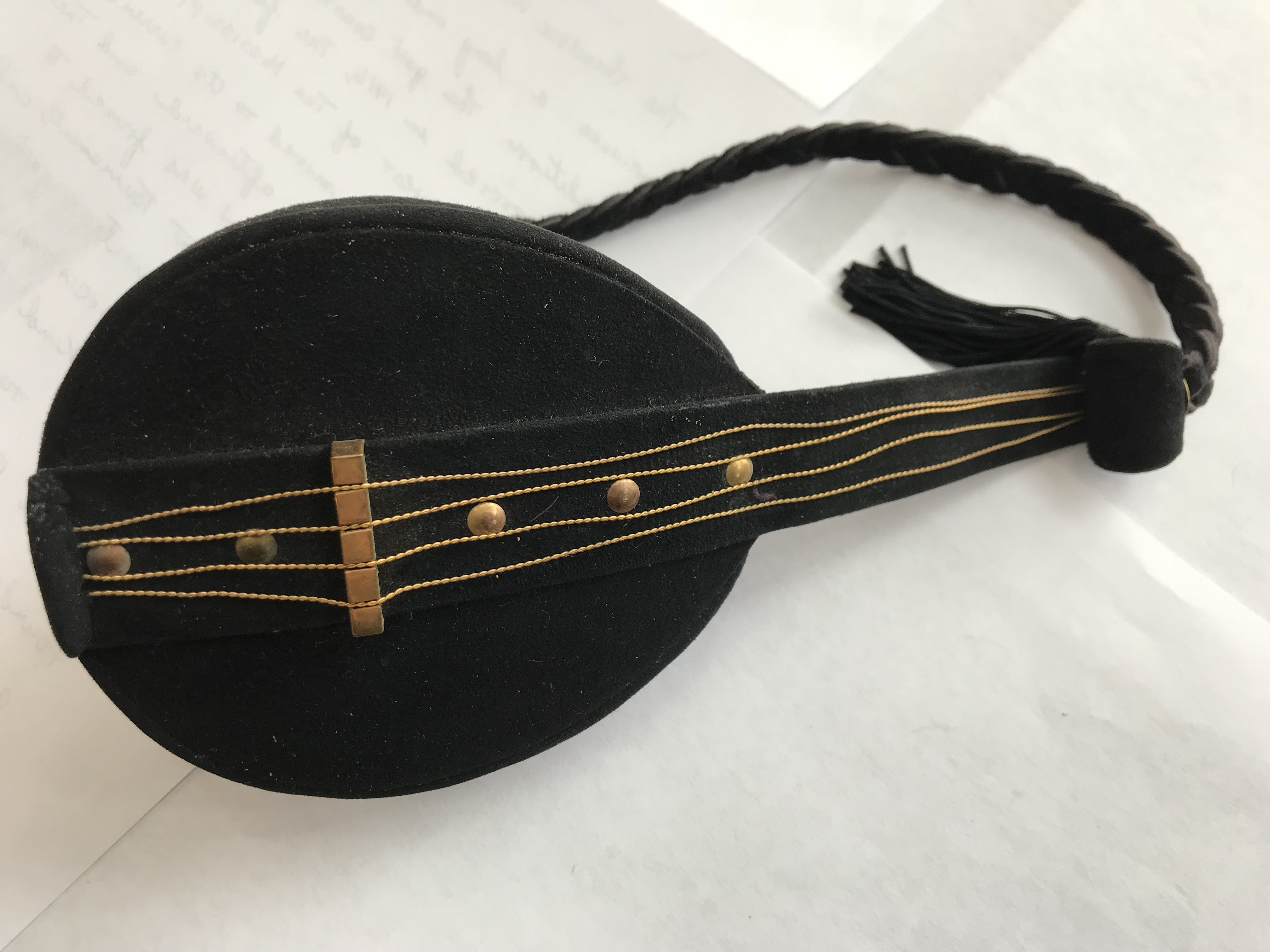 French Suede Vanity Purse