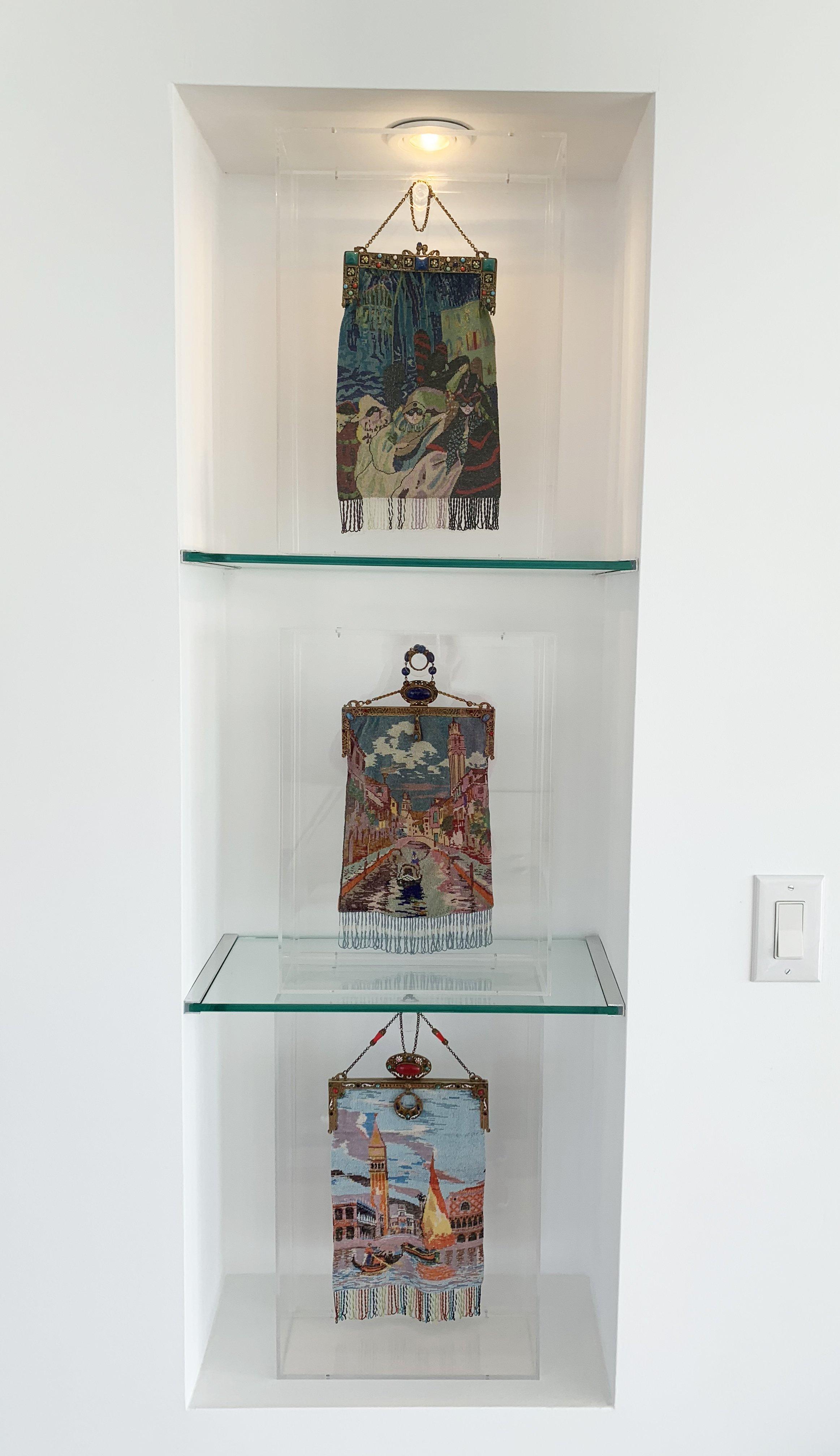 Venetian Lighted Cabinet Display