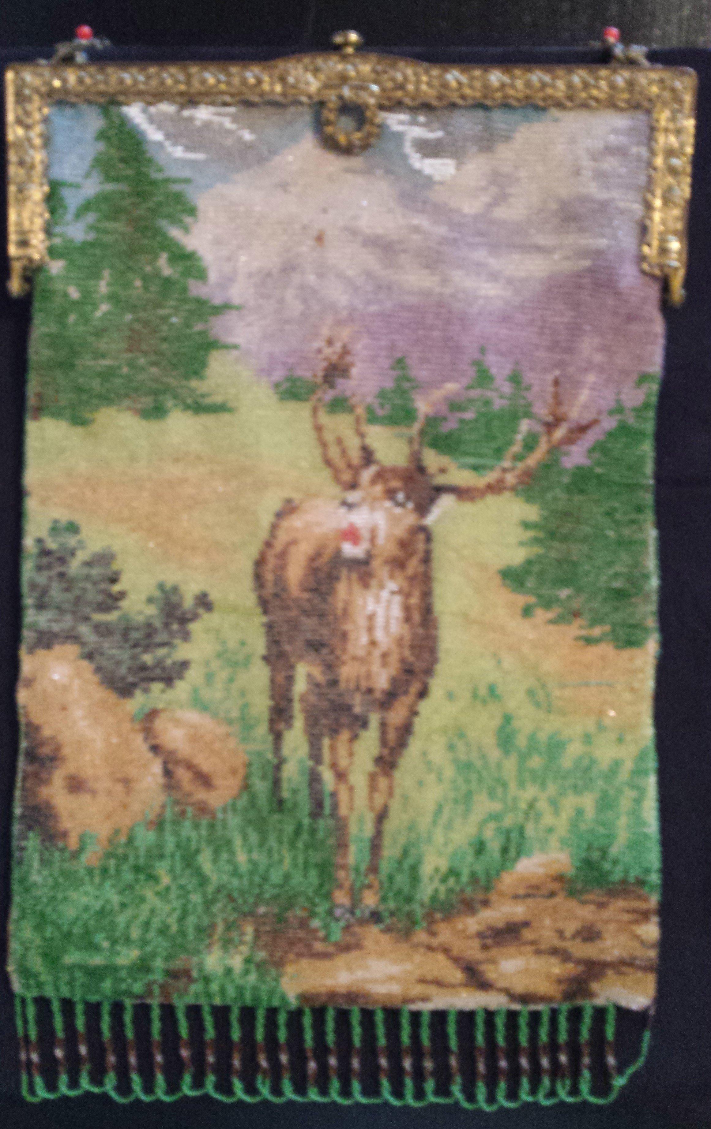Beaded Figural Elk