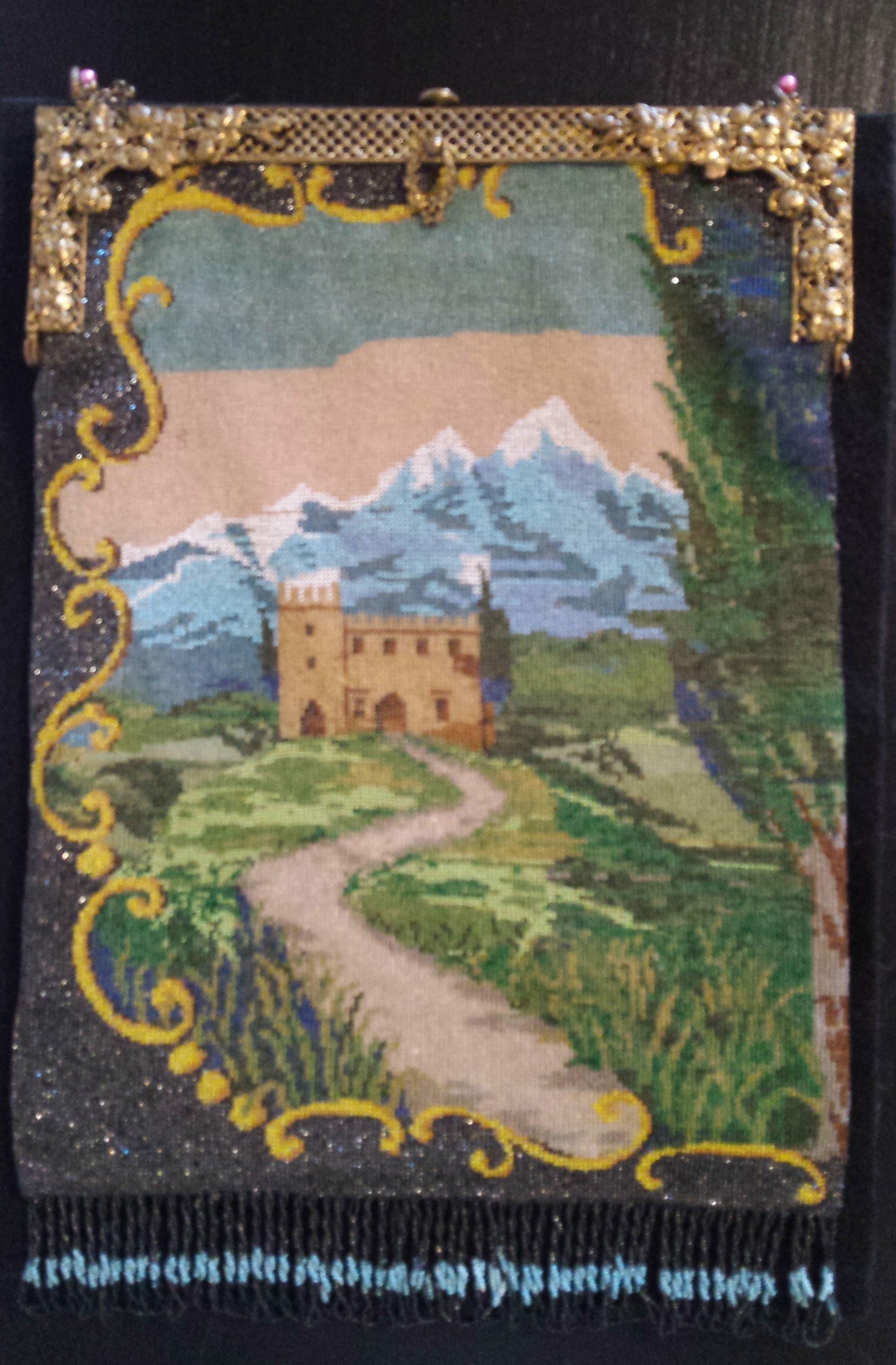 Beaded Scenic Castle Purse