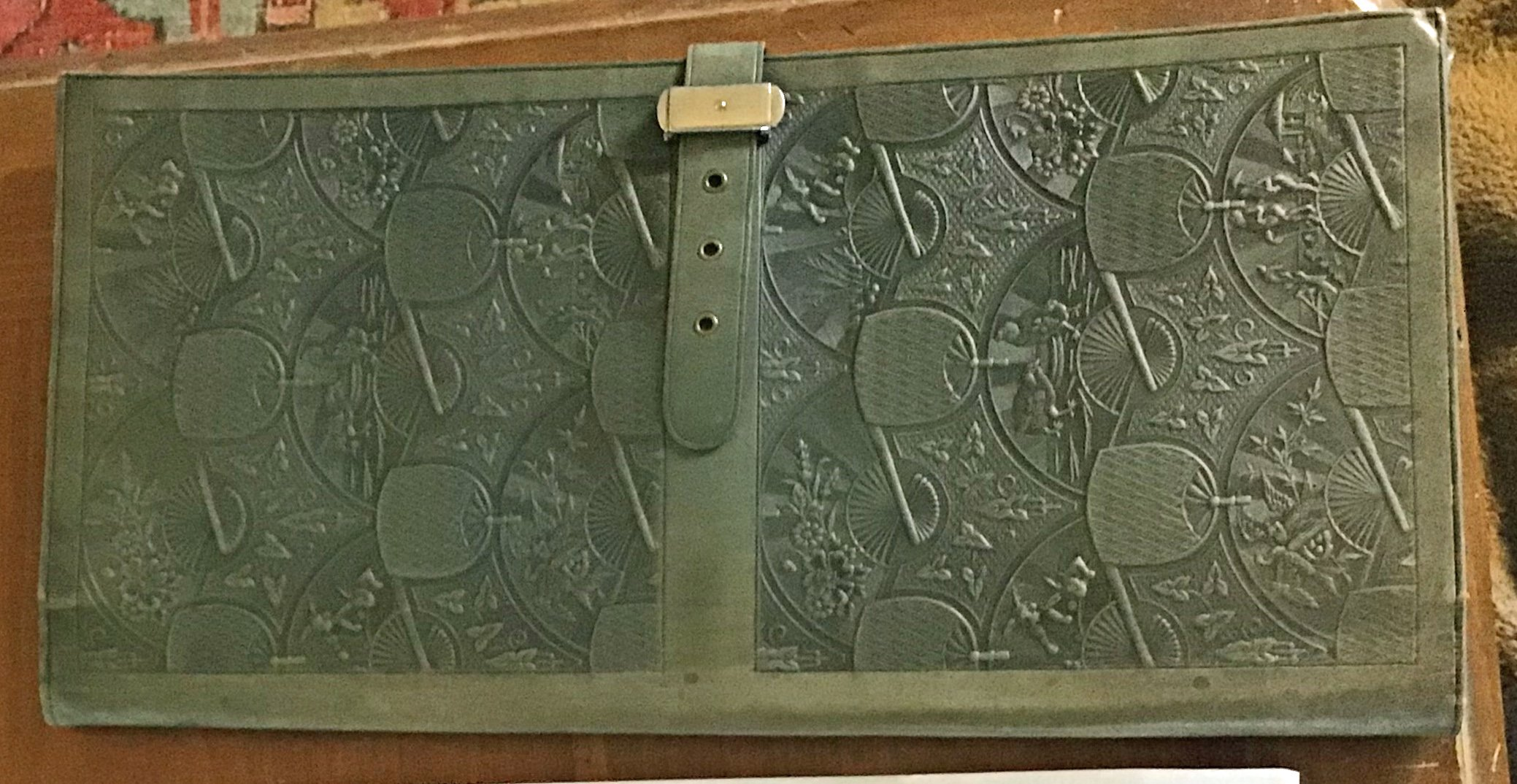 1920's Large Leather Clutch