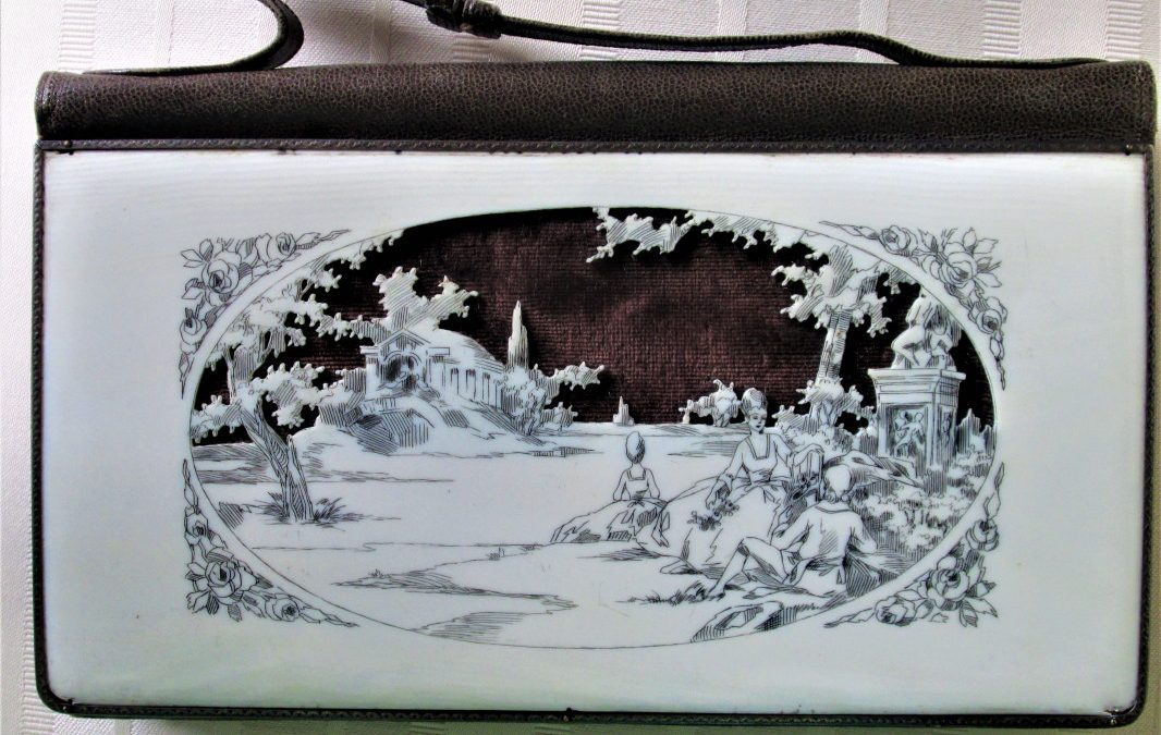 French Carved Celluloid Purse